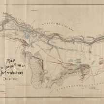 Map of the Battle Field of Fredericksburg