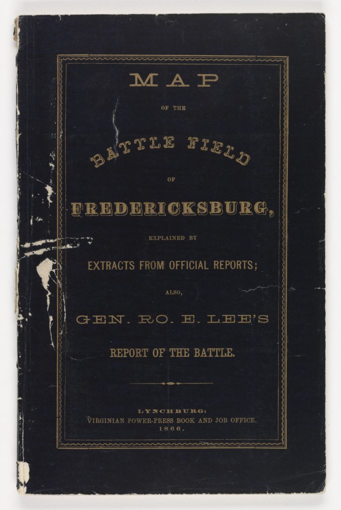 Map of the Battle Field of Fredericksburg