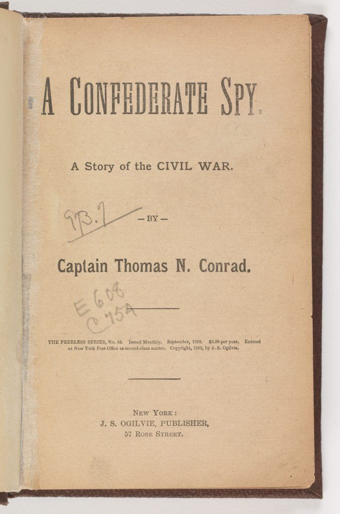 A Confederate Spy: A Story of the Civil War