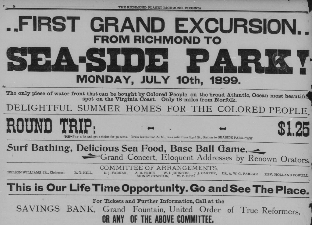 Advertisement for African Americans