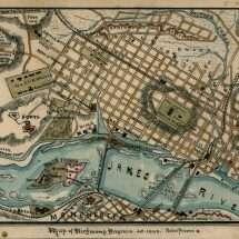 Map of Richmond Virginia. A.D. 1863.
