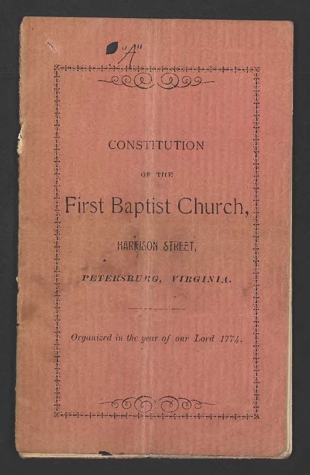 Constitution of the First Baptist Church