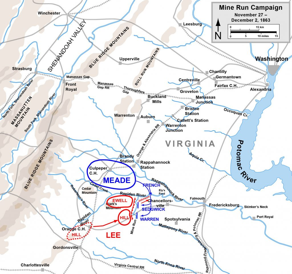 Map of the Mine Run Campaign