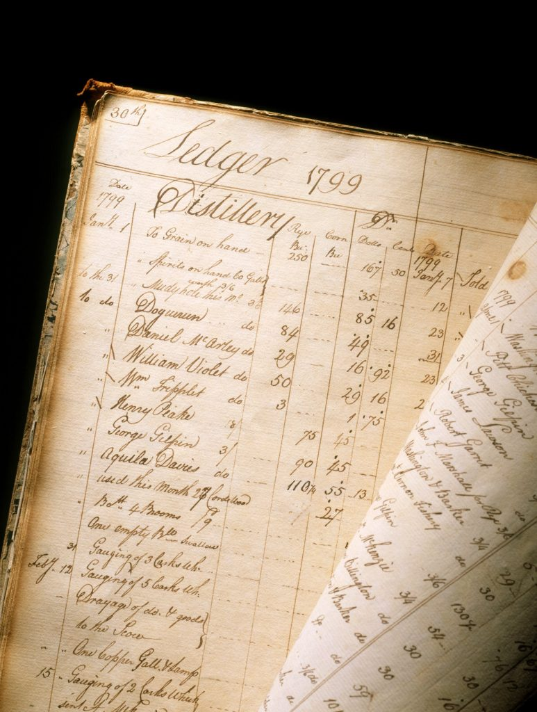 Mount Vernon Distillery and Fishery Ledger