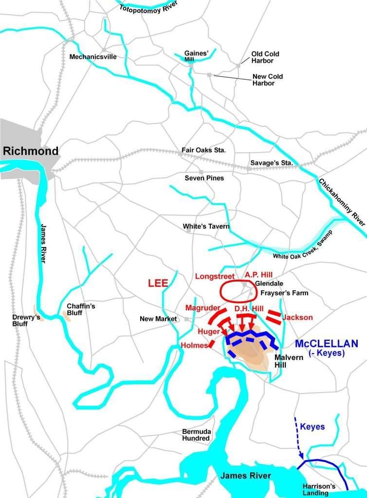 Troop Movements on Malvern Hill