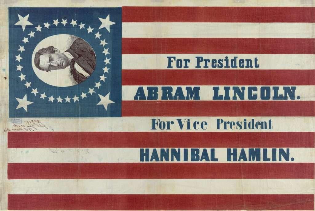 Lincoln-Hamlin Campaign Banner