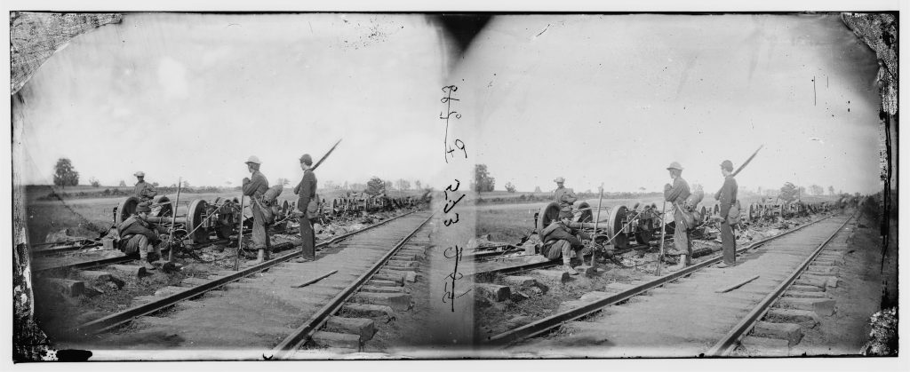 Railroad Damage During Second Manassas Campaign