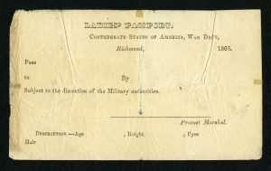 Civil Liberties in Virginia during the Civil War