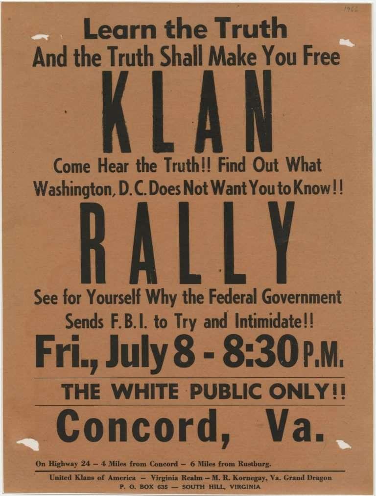 Poster for Klan Rally