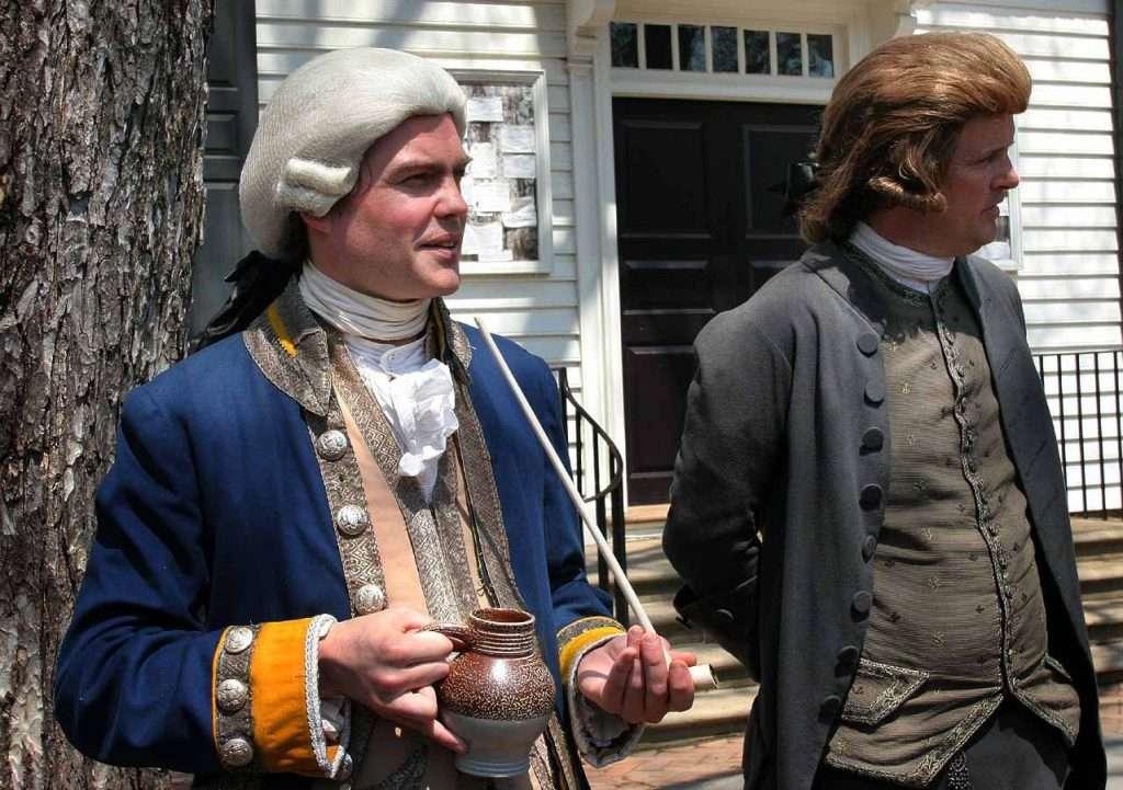 Reenactors at Colonial Williamsburg