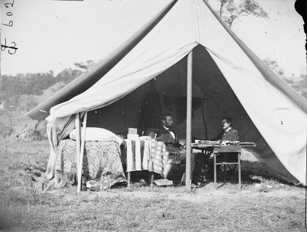 President Lincoln Meets with General McClellan