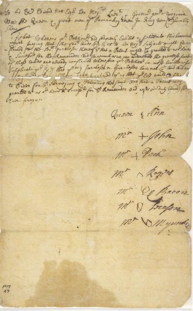 Pamunkey Indian Petition