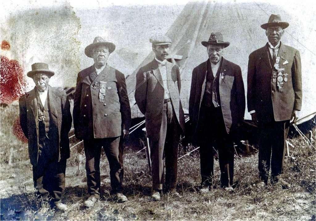 Franklin Jennings at a Civil War Veterans Reunion