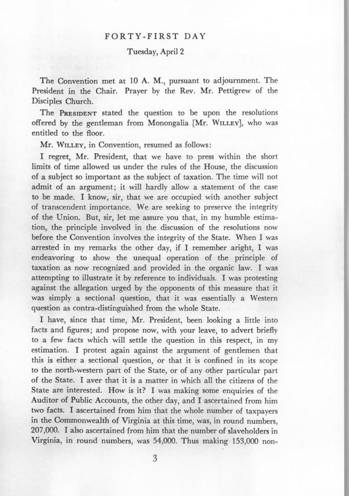 Proceedings of the Virginia State Convention of 1861