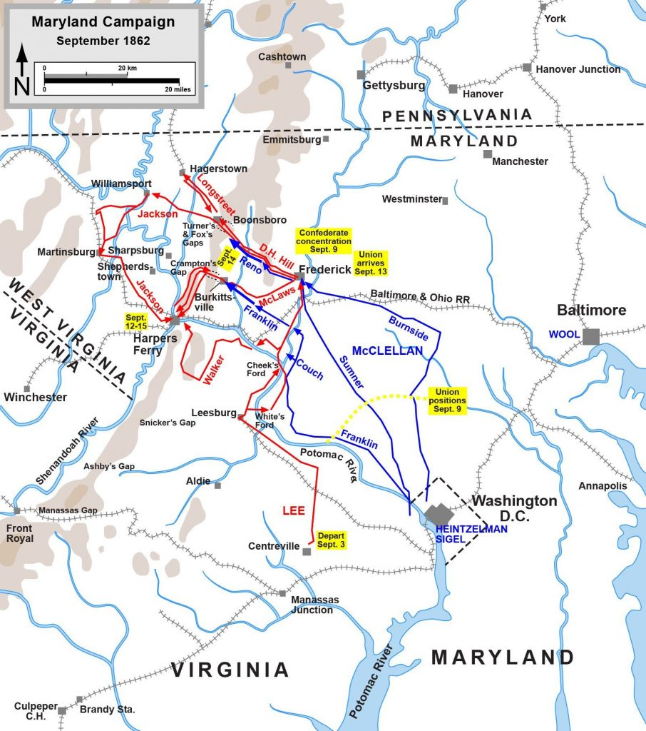 Map of the Maryland Campaign