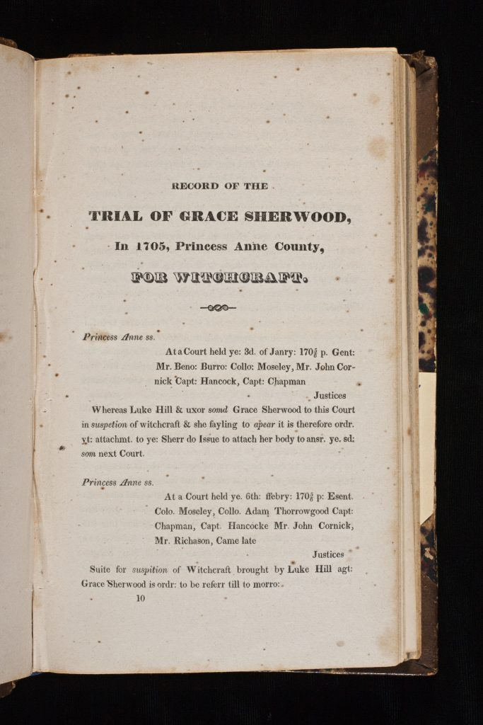 Record of Grace Sherwood's Trial