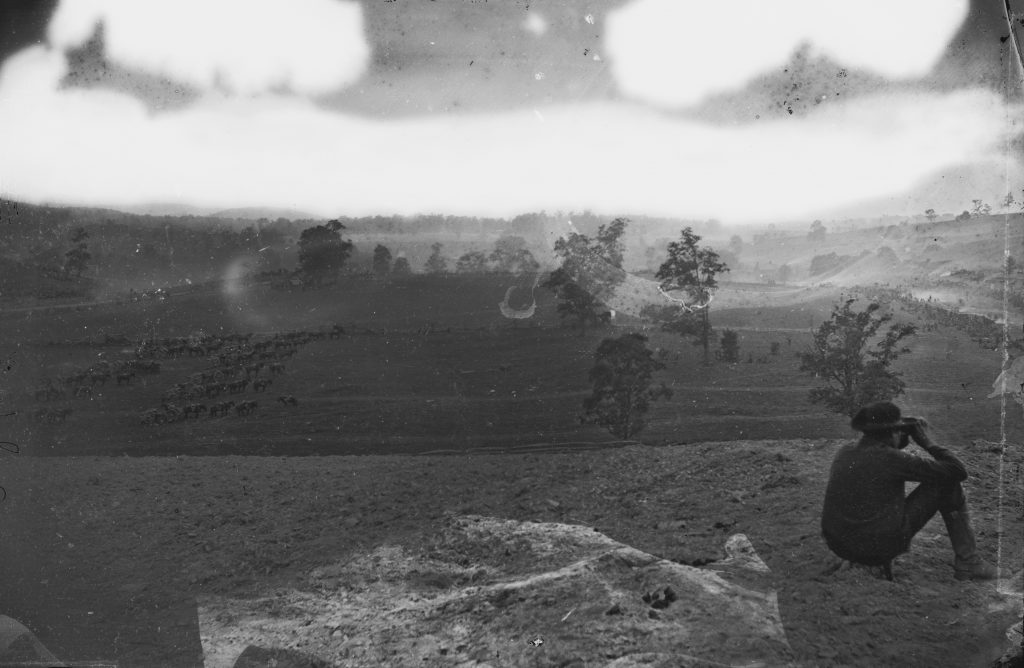 Union Reserve Positions Near Antietam Battlefield