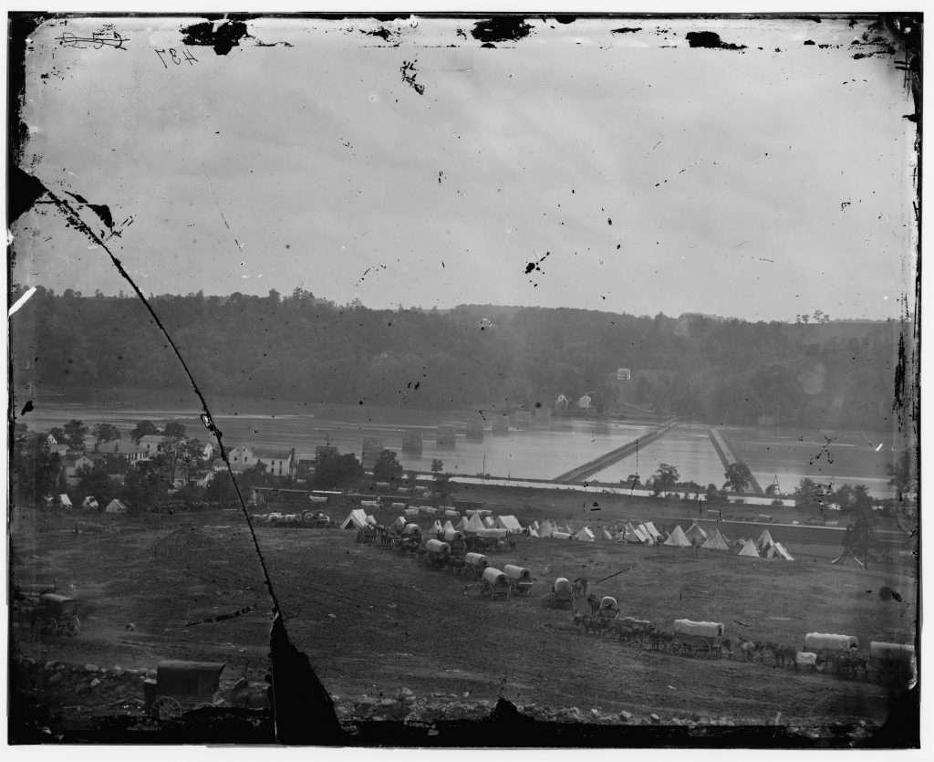Pontoon Bridges Over the Potomac