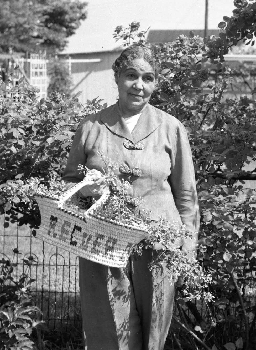 Anne Spencer in Her Garden