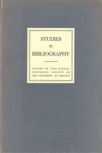 Studies in Bibliography