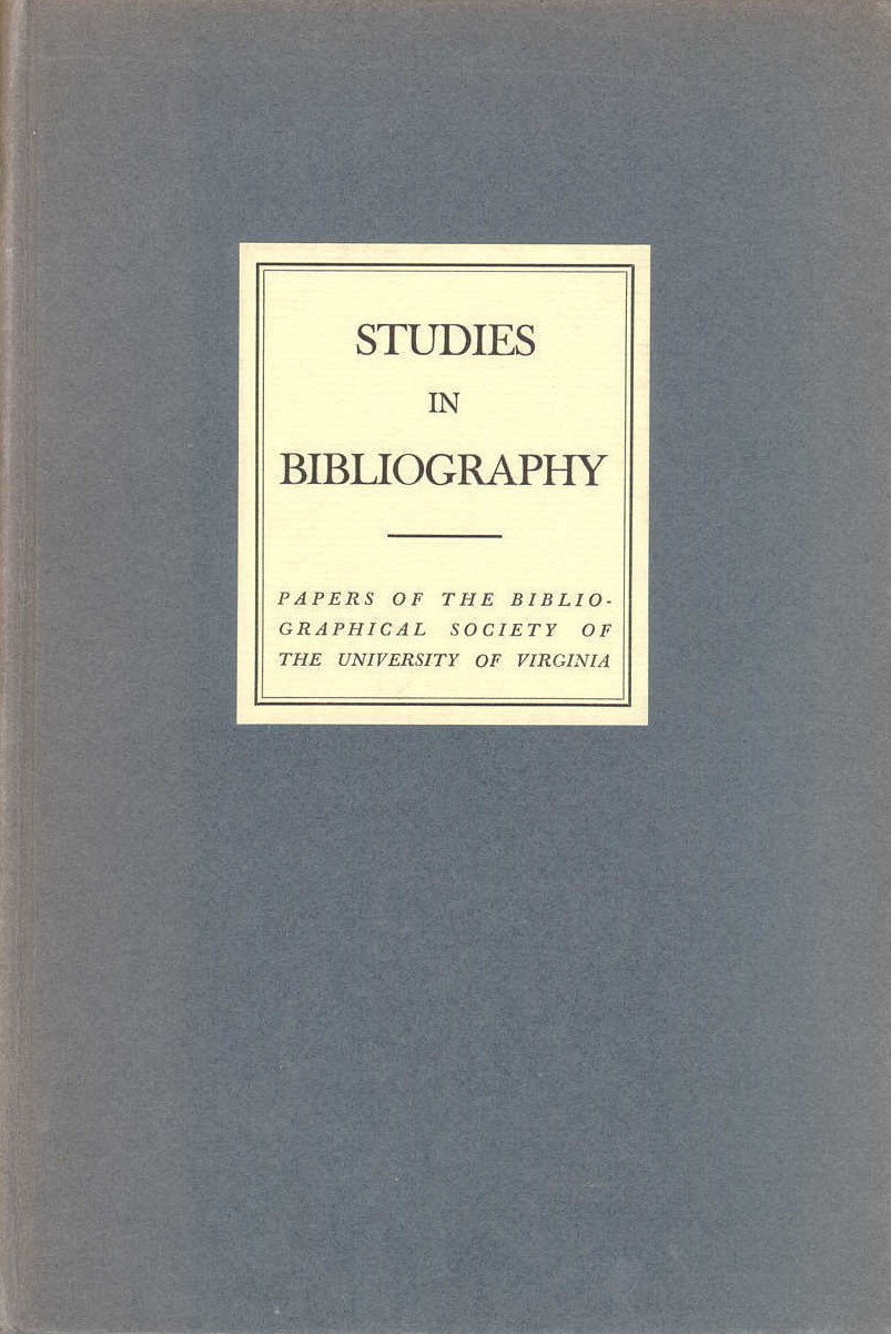 Studies in Bibliography