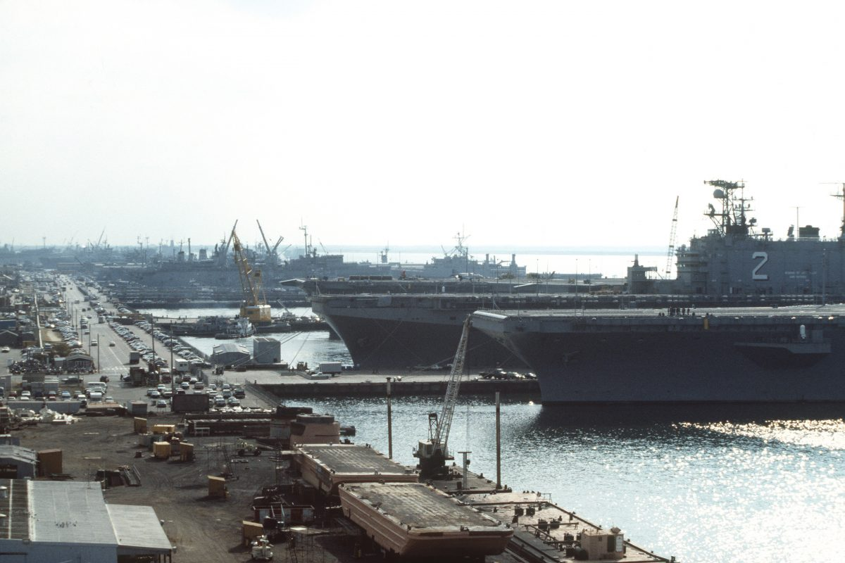 Ships Docked at Naval Station Norfolk