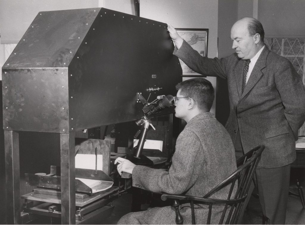 Fredson Bowers at the Hinman Collator