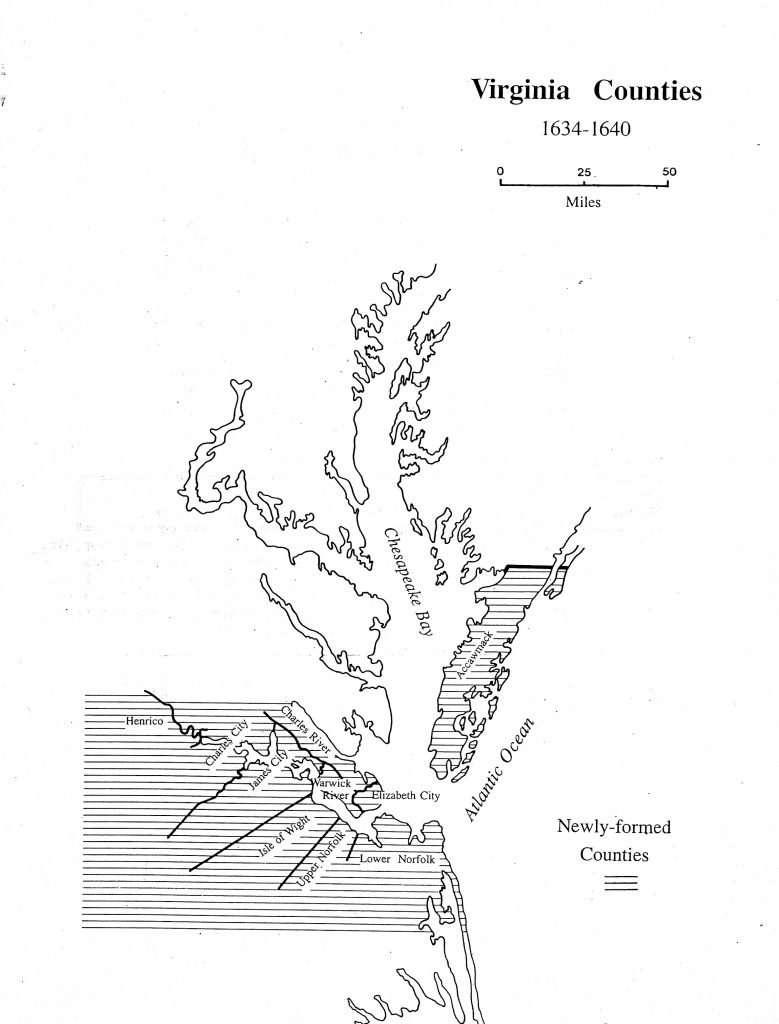 Virginia Counties 1634—1640