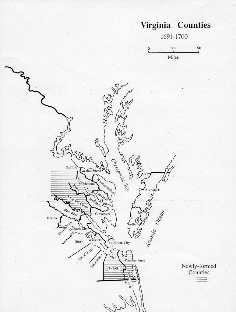 Virginia Counties 1691—1700