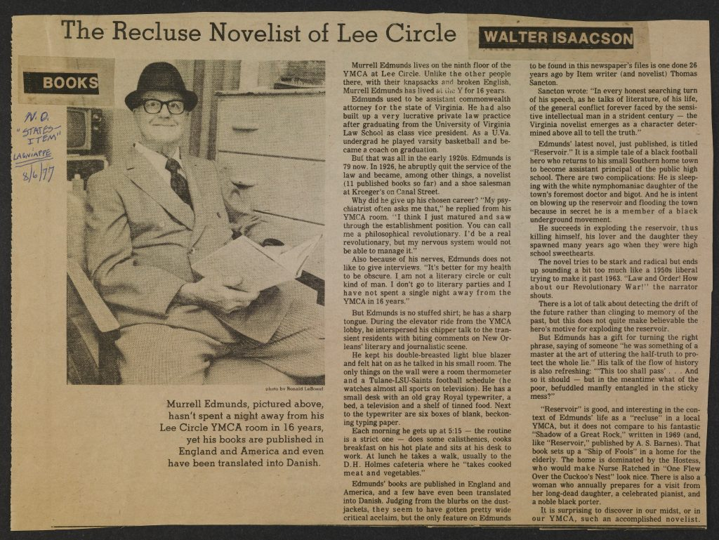 The Recluse Novelist of Lee Circle