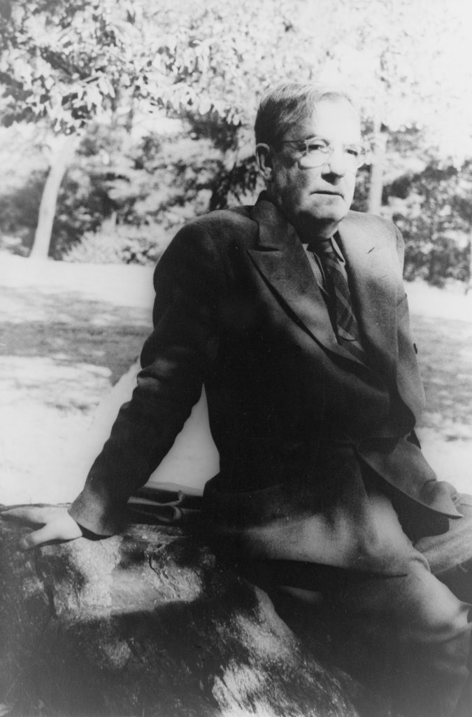 Sherwood Anderson in Central Park