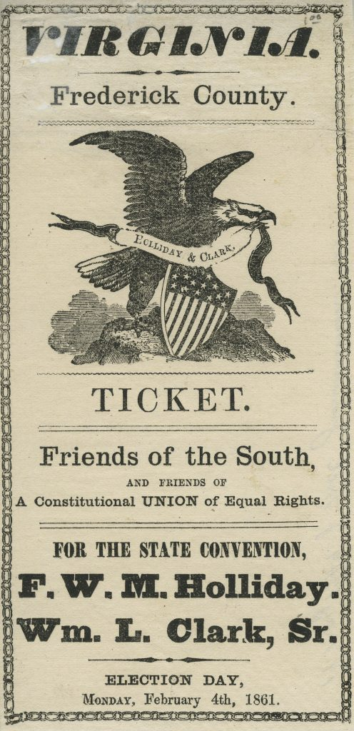 Electing Delegates to the Virginia Convention of 1861
