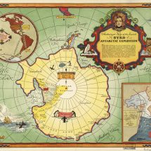 Map of Bryd's Second Antarctic Expedition