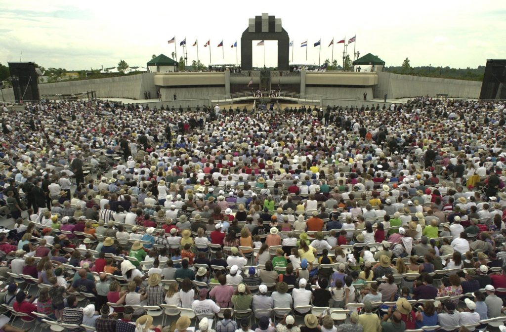 President Bush Speaks at the National D-Day Memorial Dedication