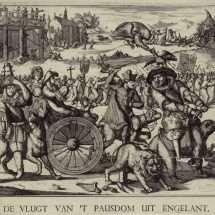 Drawing Satirizing James II