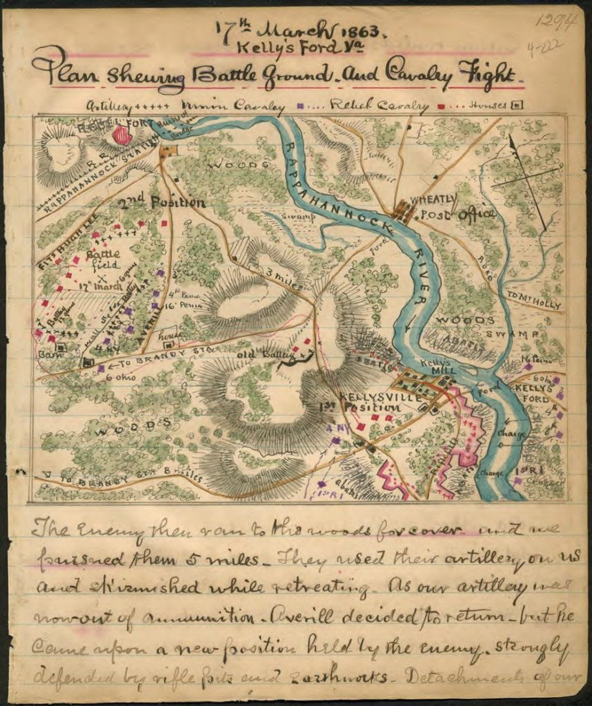 Map of the Battle of Kelly's Ford