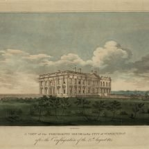 A View of the President's House in the City of Washington After the Conflagration of the 24th August 1814