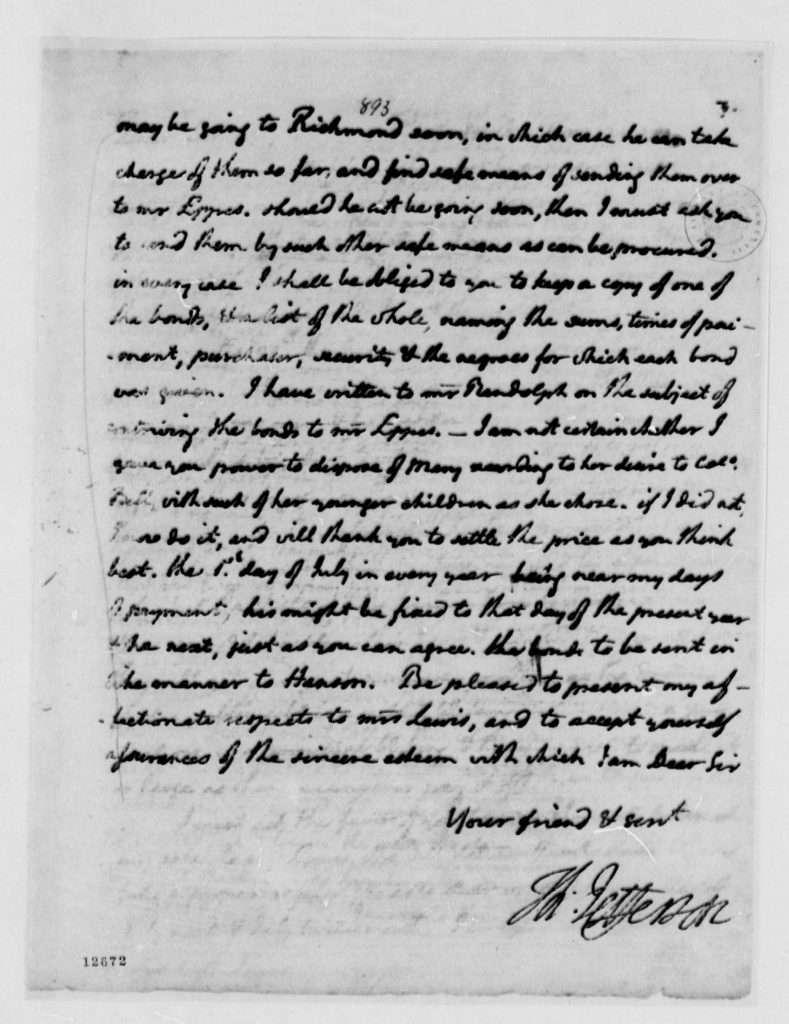 Letter from Thomas Jefferson to Nicholas Lewis (April 12