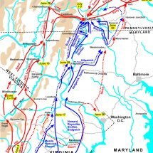 Troop Movements Leading Up to the Battle of Gettysburg