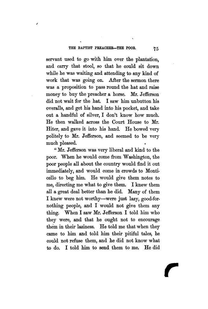 Mr. Jefferson's Personal Appearance and Habits an excerpt from The Private Life of Thomas Jefferson by Hamilton W. Pierson (1862)