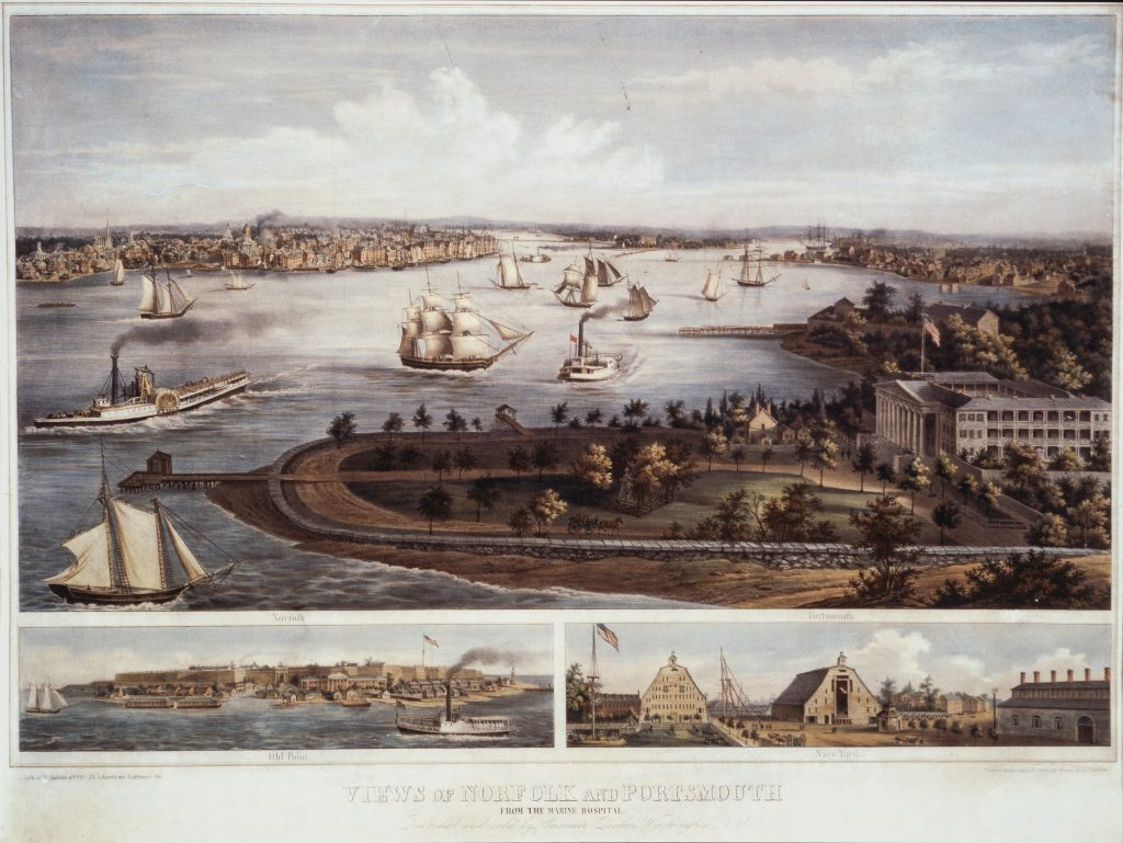 Views of Norfolk and Portsmouth From the Marine Hospital.