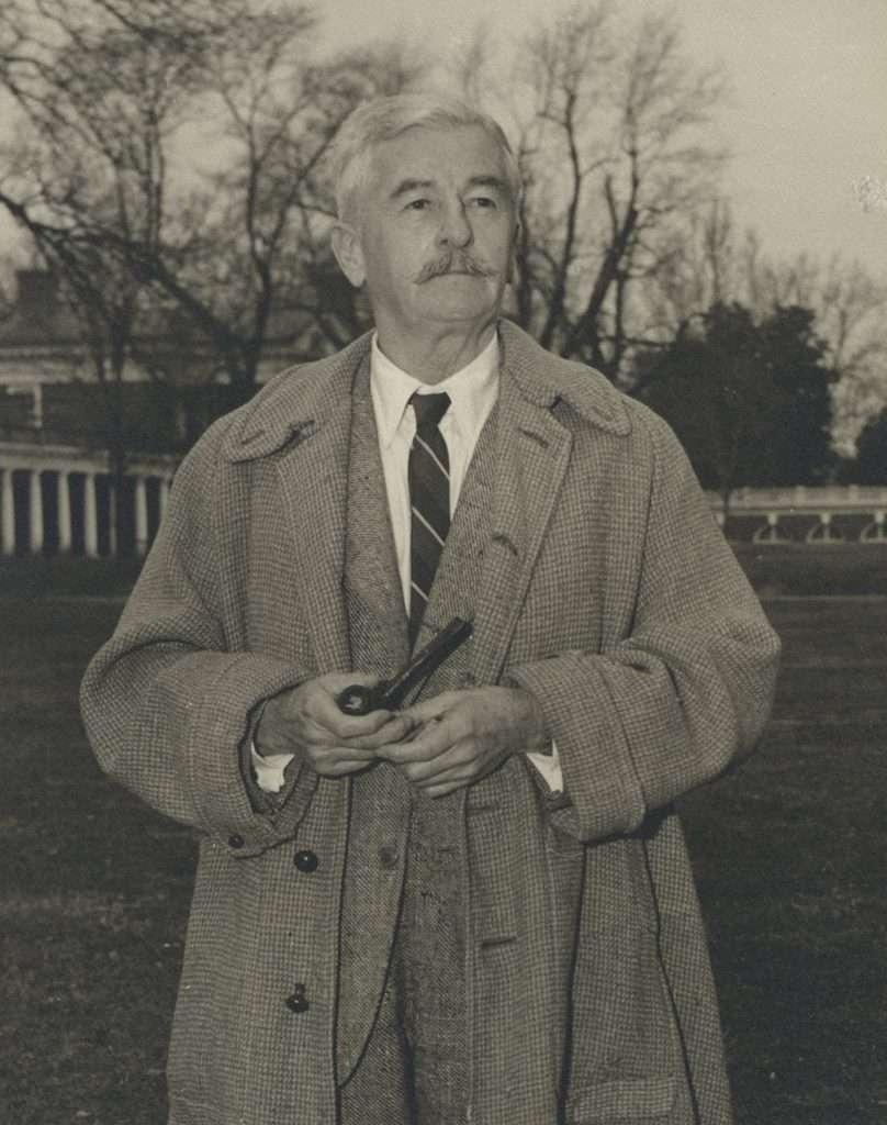 William Faulkner on the Lawn