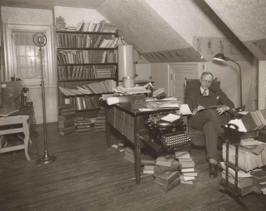 Douglas Southall Freeman in His Study