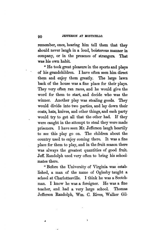 Mr. Jefferson's Family; an excerpt from The Private Life of Thomas Jefferson by Hamilton W. Pierson (1862)