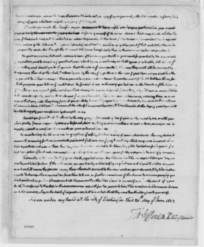 Thomas Jefferson to Meriwether Lewis