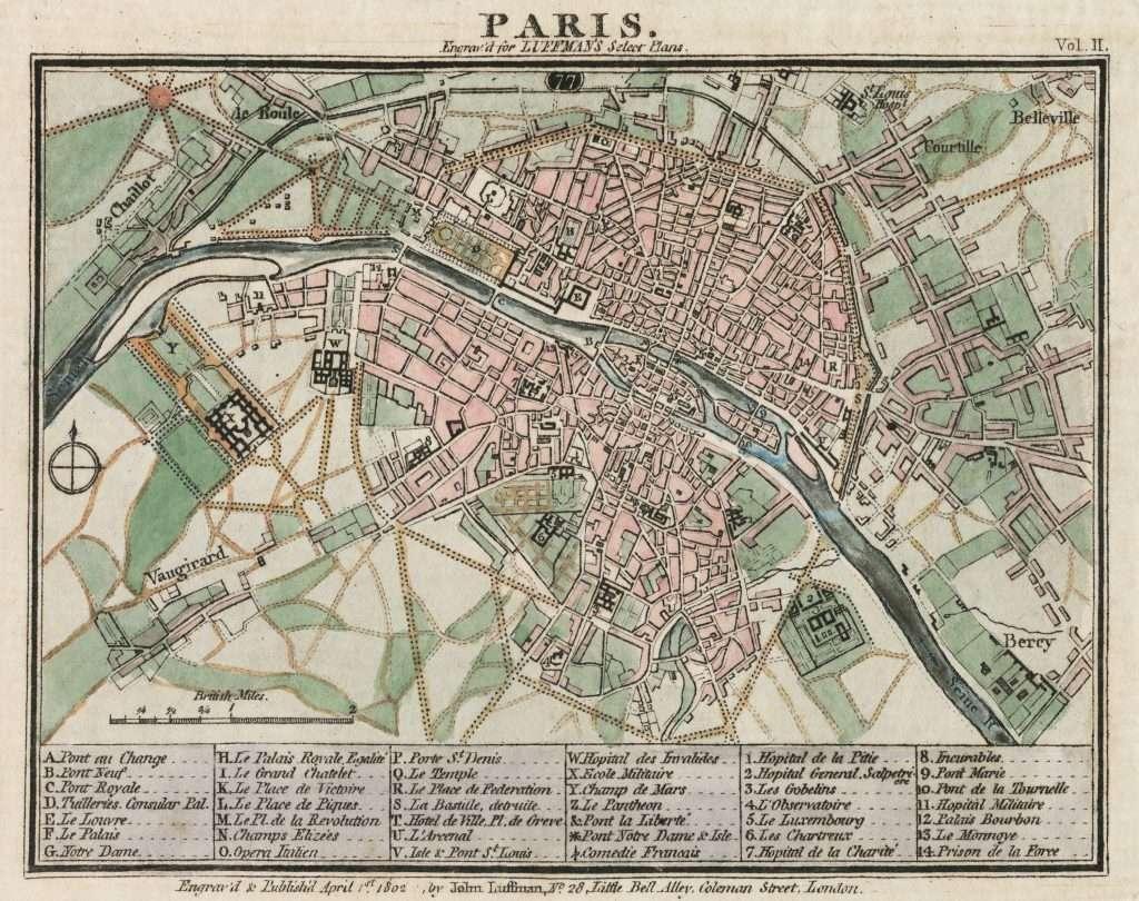 Paris Street Plan