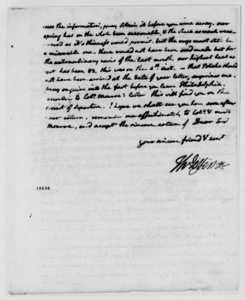 Letter from Thomas Jefferson to James Madison (May 15