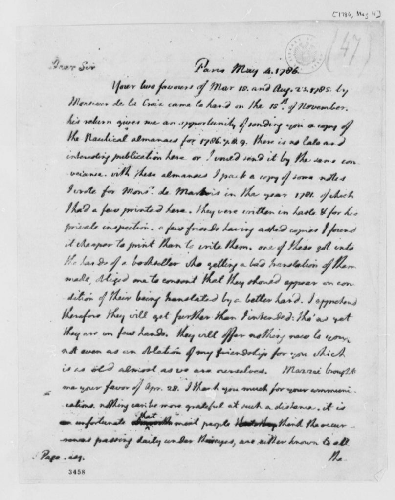 Letter from Thomas Jefferson to John Page (May 4
