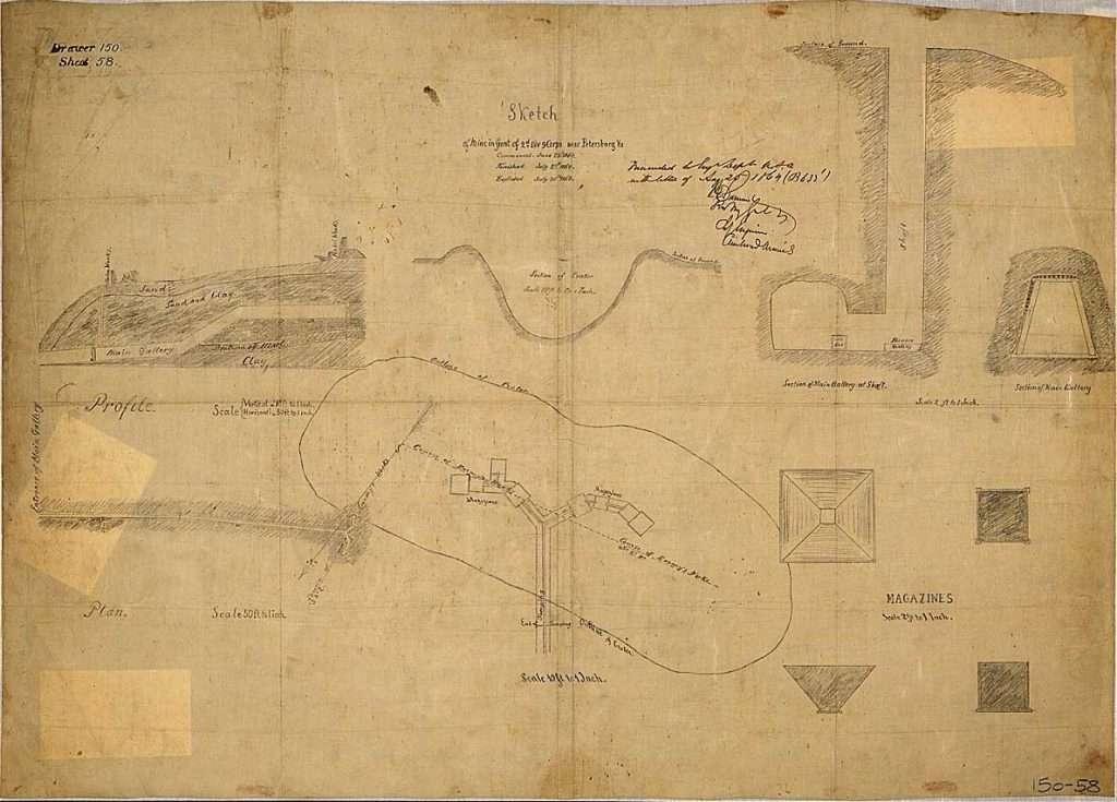 Sketch of the Mine at Petersburg