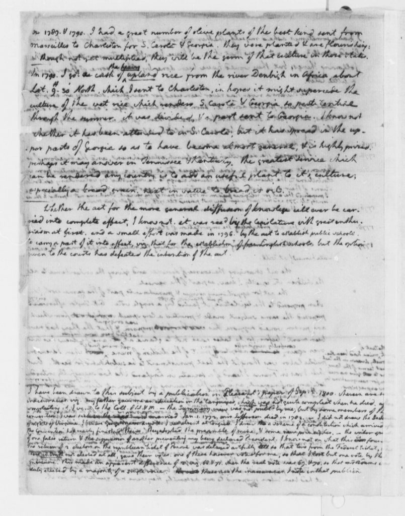 Summary of Public Service by Thomas Jefferson (After September 2